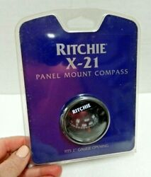 Ritchie X-21 Panel Mount Compass Fits 2and039and039 Gauge Opening Nip