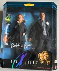 1998 Mattel Barbieandken The X-files Giftset Collector Ed Scully And Mulder 19630