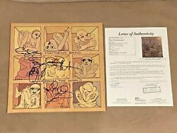 Dave Matthews Band Signed Away From The World Album Lp Record Auto Jsa Letter