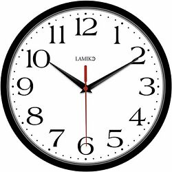Large Wall Clock For Bedroom Office School Non Ticking Wall Clocks Battery Opera