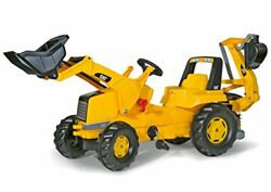 Rolly Toys Cat Construction Pedal Tractor Backhoe Loader Front Loader And Exca