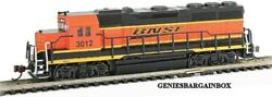 N Scale Bnsf Dcc And Sound Equipped Gp40 Locomotive Bachmann New 66352