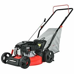 Push Lawn Mower Gas Powered - 17 Inch, 127cc 4-stroke Engine, 5 Hight Positions