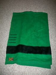 """Vintage Eatons Of Canada Trapper 4 Point 81""""l 71 W Wool Blanket Green And Black"""