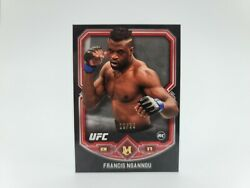 2018 Topps Ufc Museum Collection Rookie Rc Francis Ngannou Red 10/25 Rare