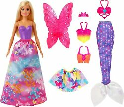 Barbie Dreamtopia Dress Up Doll Gift Set 12.5-inch Blonde With Princess