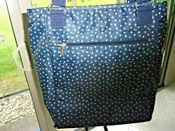 Thirty One Tote Backpack Diaper Bag in Navy Dancing Dots Large $19.85