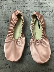 Zara Ruched Packable Ballet Flats Size 9 Us