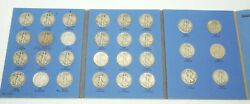 1937 - 1947 Liberty Standing Half Dollar 30 Coin Collectors Set Us 90 Silver