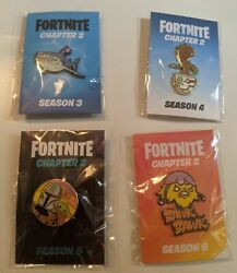 Fortnite Pins - Exclusive Chapter 2 Season 3 4 5 And 6. Groot, Baby Yoda Incl.