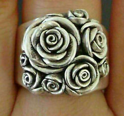 NEW Gorgeous Flower 925 Silver Women Jewelry Rings Size 6 8 GIFT BAG $8.99