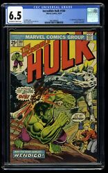Incredible Hulk 180 Cgc Fn+ 6.5 Off White To White 1st Cameo Wolverine