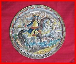 Deco Schleiss Austria Art Pottery Intricate Decorated Prinz Eugenius Charger