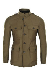 Tom Ford Jacket Men's 48 Green Cotton One Color