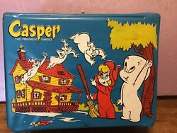 Lunch Box Vintage Casper The Friendly Ghost Vinyl 1966 Rare With Thermos