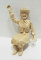 Dale Evans Figure For 1950's Ideal Toys Roy Rogers Stagecoach Or Chuck Wagon Set