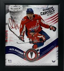Alex Ovechkin Washington Capitals Framed 15 X 17 Game Used Puck Collage Le 1/50
