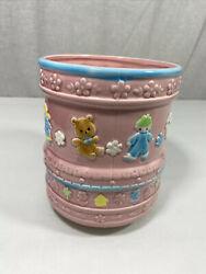 Vintage Inarco Rock-a-bye Baby Spinning Music Planter Japan Ceramic   Rare