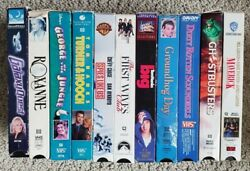 Lot Of 11 Vhs Video Cassette Tapes - Popular Pg Rated Comedies