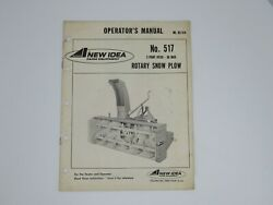 New Idea 3 Point Hitch - 86 Inch Rotary Snow Blower No. 517