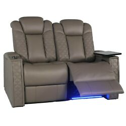 Seatcraft Enigma Home Theater Seating Row Of 2 Loveseat Power Recline Headrest