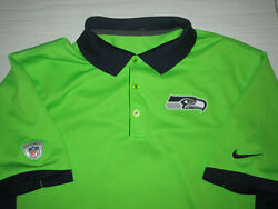 NIKE DRI FIT SEATTLE SEAHAWKS MEN#x27;S POLO GOLF SHIRT LARGE GREEN POLYESTER USED $34.99