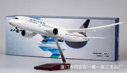 1/130 United Airlines B787 Passanger Plane Resin Aircraft 43cm Airplane Model