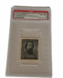 American Chicle 1900 Confederate Portrait Civil War Psa 8 Of Strahl 130 General
