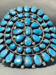 One Of The Best Ever Museum Vintage Navajo Turquoise Sterling Silver Bracelet