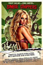 Jenna Jameson Original 2 Poster Set Zombie Strippers And Ambition 2008 Rare Mint