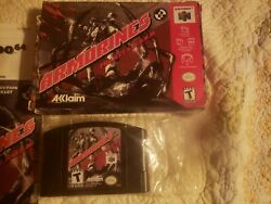 Armorines Project S.w.a.r.m. N64, 1999 Used, One Owner. Has Manual.