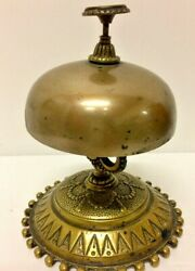 Antique French Hotel Receptions Desk Bell Bronze 1880 Call Service Counter Top