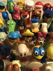 Vintage Lot Of 100 Pez Dispensers Assorted - With Feet - Excellent Shape
