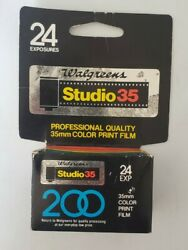 35mm Color Print Film 200  Walgreens Studio 35 With 24 Exposures Expired 11-97