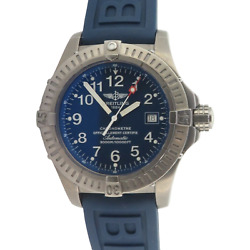 .auth Breitling Avenger Seawolf Auto 3000m 44mm Titan Diver Watch E17370 +papers