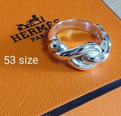 Hermes Accessory Vintage Ring Size 53 Screw Torsard Silver925 Good Condition