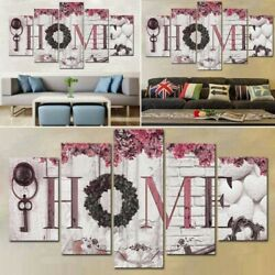 Concise Fashion Wall Paintings Letter Prints Wall Art Home Decor Paintings 5PCS