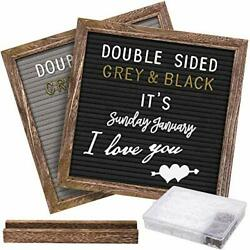 Double Sided Letter Board With 750 Precut White And Gold Brown Rustic 10x10