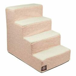 Majestic Pet Blush Pink Palette Heathered Portable Foam 4 Step Pet Stairs   S...