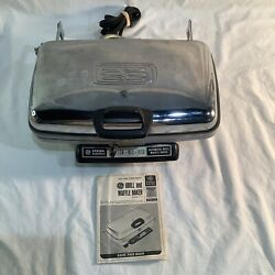 Vintage General Electric Ge Automatic Grill Waffle Iron Baker A3g44