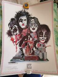 Kiss Posters Set Of 4 Not For Sale Japan