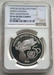 Ireland 1995 United Nations Pound Ngc Pf69 Silver Coinproof004