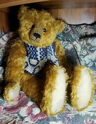Willow Vintage Hand Made Teddy Bear By Pat Murphy Mohair Original Hang Tag
