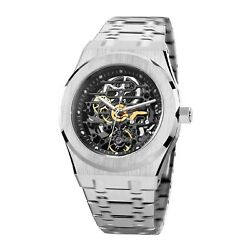 Feice Sports Automatic Menand039s Watch Skeleton Dial Sapphire Crystal Wrist Watches