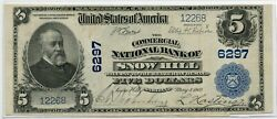 Fr. 598 1902 Pb 5 Ch 6297 National Bank Note Snow Hill, Maryland Vf