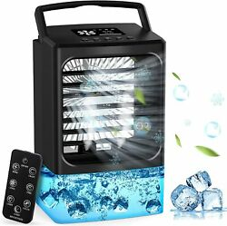 Personal Air Conditioner Portable Fan Cooler Remote Control Misting Colors Light