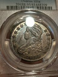 1814/3 O-101a Capped Bust Half Dollar Pcgs Au Details Would Be 58, 3000+ Coin