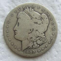 1902-s 1 Morgan Silver Dollar Rare Key Date Cleaned