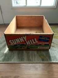 Vintage Sunny Hill Grape Fruit Crate California Winery Box