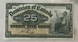 Canada 1900 Dominion Of Canada 25 Cent - Shinplaster - Real Nice Look At Photos